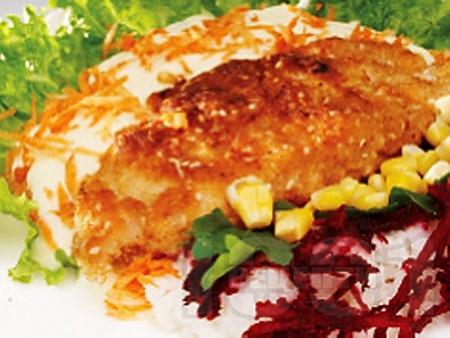 Панирана маслена риба със сусам и бяло вино - снимка на рецептата